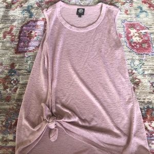 Bobeau French Terry Side Tie Knot Knit Tank Top